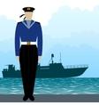Military Uniform Navy sailor-2 vector image