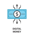 digital money icon concept vector image