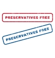 Preservatives Free Rubber Stamps vector image