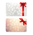 Bows And Blank Gift Tags vector image