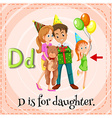 A letter D for daughter vector image