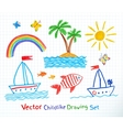 Summer seaside set vector image