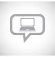 Laptop grey message icon vector image