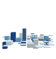 3d business background vector