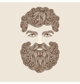 Mustache Beard and Hair Style vector image