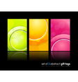 Gift cards backgrounds vector image vector image