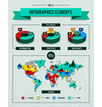 set of infographics elements vector image vector image