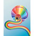 Air balloon with rainbow2 vector image