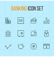 banking outline icon set vector image