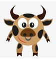 bull farm animal vector image
