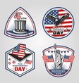 colored vintage independence day emblems set vector image