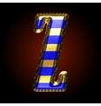 golden and blue letter z vector image