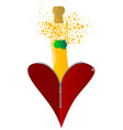 love champagne vector image