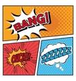 Bubble pop art icon set design vector image