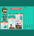 technology infographic template vector image