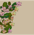 card with tropic flower - orchid vector image vector image