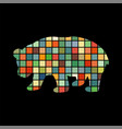 panda bear mammal color silhouette animal vector image