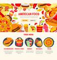 fast food restaurant menu banner template vector image vector image