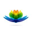 lotus multicolored logo vector image vector image