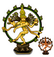 hindu figurines of cali on white background vector image