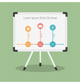 Whiteboard vector image vector image