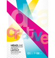 cmyk Abstract design layout background vector image vector image