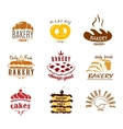 Bakery and pastry emblems or labels vector image vector image