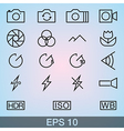 Camera Icons Thin vector image