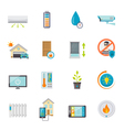Smart House Flat Icons Set vector image vector image