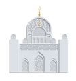 Beautiful islamic mosque vector image