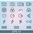 Camera Icons Thin vector image