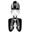 Catholic priest bishop pope vector image