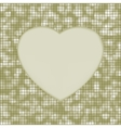 elegant heart mosaic background vector image