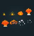 explosion animation icon set vector image