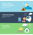 Flat banners with tourism concepts vector image