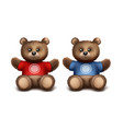 gift bears vector image
