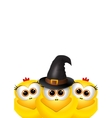 Postcard Halloween with chickens Chicken with vector image