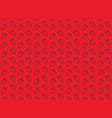 seamless strawberry pattern on red background vector image