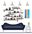 small living room vector image