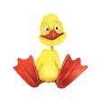 Watercolor cartoon duckling vector image