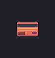Credit card computer symbol vector image