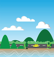 130715Driving trip vector image