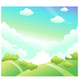 Green landscape and blue sky vector image