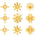 gold star symbol vector image