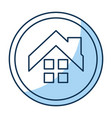 house exterior seal isolated icon vector image