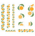 orange fruit colored fragmented ornament vector image vector image