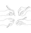 hand set 5 vector image