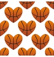 Basketball hearts in a seamless pattern vector image vector image