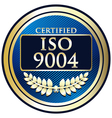 ISO 9004 vector image vector image