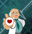 doctor with health symbol vector image vector image